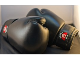 Boxing Gloves - Full Contact Black Leather