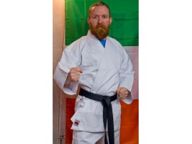 Karate suit white/black ADULT