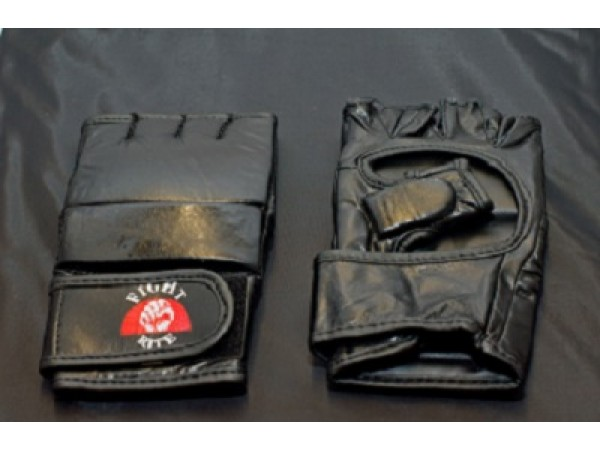 MMA GLOVES (gel) Black Leather