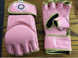 MMA REXINE GLOVES PINK